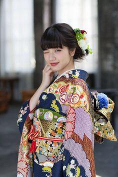 Komatsu Nana 小松菜奈 for Kyoto Kimono Yuzen 京都きもの友禅 - Japan - 2017