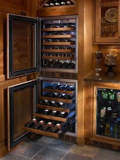 #winefridges are perfect for storing your #wine properly! Build them right into you kitchen for added convenience!