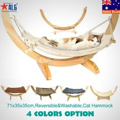 Cozy washable fleece material provides a soft and warm place for Kitty to cuddle. Stylish wood frame requires minor assembly; all hardware, small tools and instructions included. Animal Hammock. Cat Hammock. | eBay!