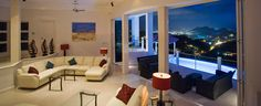 ♥♥♥St Lucia Holiday Villa Rental view of Sunset and pool, perfect St Lucia Vacation.  Akasha.