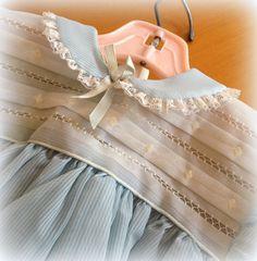 Vintage Baby Dress  Baby Blue Dress  So Pretty by Cherrycrushretro