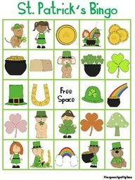 Free! St. Patricks Day Vocabulary Bingo fun reinforcement game to play while you target various speech and language goals.