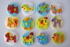 Cupcake toppers - edible Puppies