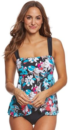 29dc851d3b Maxine Pop Floral Draped One Piece Swimsuit 8166110 Swim Shop