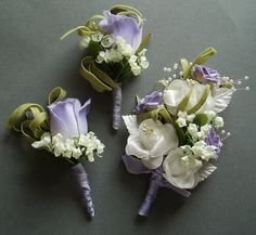 Lavender Boutonniere | Purple Lilac Boutonniere Corsage Set DESTINATION WEDDING ACCESSORIES ...