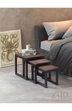 Perfect for those small spaces, the Civic Center nesting tables slide together for a space saving design. Tops are made from solid elm and the base is metal ...