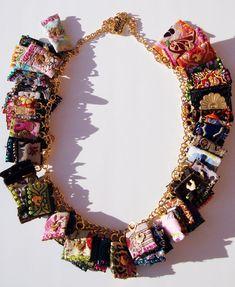 Carmi's Art/Life World: Dove Of The East Sample Ribbon Necklace