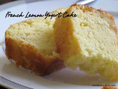 French Lemon Yogurt Cake - good cake, whisking liquid ingredients first makes even lighter.