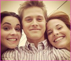 """Lucas Grabeel, Vanessa Marano And Katie Leclerc On The Set Of ABC Family's """"Switched At Birth"""" Season 2"""