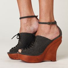 HOST PICK  Jeffery Campbell wedge. Never worn in box with dust bags Free People Shoes Wedges