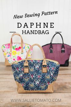 Easy DIY Designer Handbag - Daphne Handbag is a quick sew, and fun to make 143d9d2076