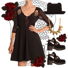 halloween style from #freakofnaturethebrand www.ark.co.uk #halloween #dress #roses