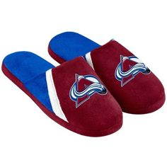 3b396489c45b Mens Colorado Avalanche Swoop Logo Slide Slippers Bf