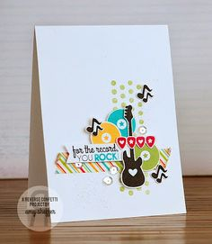 Reverse Confetti | Inner Rock Star, Whole Lotta Dots [Just Because, Friendship, Thinking of You Card]