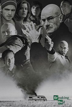 Póster Breaking Bad, personajes
