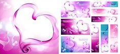Heart-shaped fantasy smoke free vector material @freebievectors