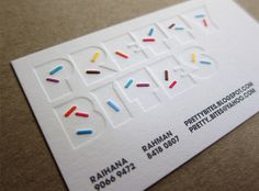 Add some sprinkles and you get a business card. This makes me hungry for ice cream!