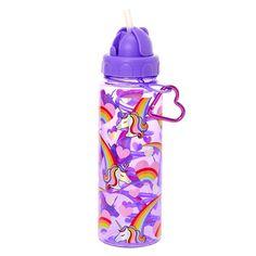Purple And Rainbow Unicorn Tumbler Unicorn Water Bottle, Dinner Wear, Hasbro My Little Pony, Cute Water Bottles, Unicorn Pictures, Kids Makeup, Heart Keyring, Cute School Supplies, Decoupage Art