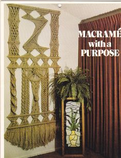 1970s Macrame With A Purpose Patterns - Instructions for 15 Projects GM2 - Lampshade Towel Holder Magazine Holder Plant Hanger More