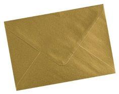 Ark - Buste formato C6, 114 x 162 mm, 25 pz, colore: Oro metallizzato