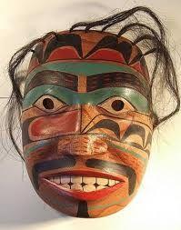 Northwest Native American mask. Hair.