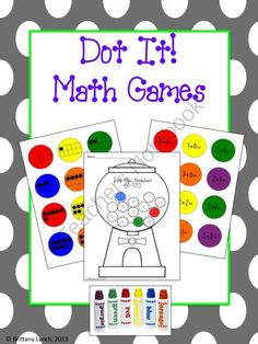 Dot It! Math Games from Brittany Lynch on TeachersNotebook.com -  (44 pages)  - Student will having using BINGO dabbers while practicing a variety of math skills.
