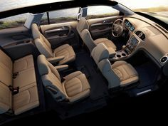 The 2014 Buick Enclaves interior and rear seating has been designed to lessen motion sickness.