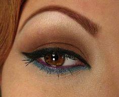 blue liner on brown eye, stunning!