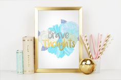 Print Be Brave by electricbluestudios on Etsy