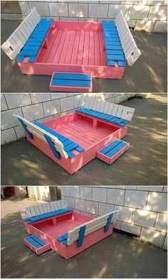 Artistic and much an interesting creation of the pallet designed sandbox for kids is all finished in a classy way right here for you. This wood pallet sandbox designing style is mixed in the availing service of showing you the sort of seating purpose use that make it super functional to carry out.