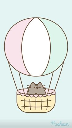 Pusheen is a tubby tabby cat who brings smiles and laughter to people all around the world! Cute Cat Wallpaper, Funny Phone Wallpaper, Kawaii Wallpaper, Kawaii Doodles, Cute Doodles, Kawaii Art, Kawaii Girl Drawings, Disney Drawings, Pusheen Love