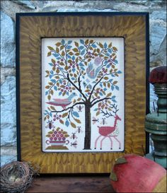 The Birds and the Bees by Carriage House Samplings (40 ct linen and Needlepoint Silks)
