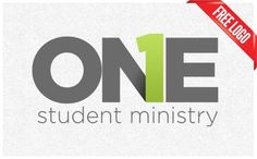 simple student ministry logo. grey + one color.