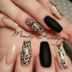 50 stylish leopard and cheetah nail designs – nail design & nail art - Nailart Cheetah Nail Designs, Leopard Print Nails, Nail Art Designs, Leopard Prints, Leopard Nail Art, Nails Design, Red Cheetah Nails, Leopard Animal, Animal Prints