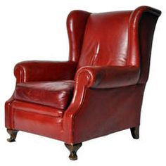 High Quality View This Item And Discover Similar Wingback Chairs For Sale At   This  Classic Red Leather Wingback Chair Is Raised On Squat Cabriole Legs, Which  Terminate ... Amazing Design