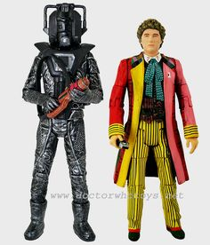 28. The Sixth Doctor (with Sonic Lance) and Stealth Cyberman (with red gun) (from Attack of the Cybermen)