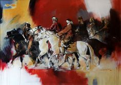 Artist: Shan Amrohvi Artwork Code: AC-SA-035 Medium: Oil on canvas Size: 30 x 42 inch