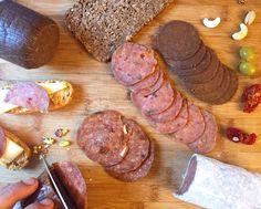 Salchichón, salami y morcilla vegana