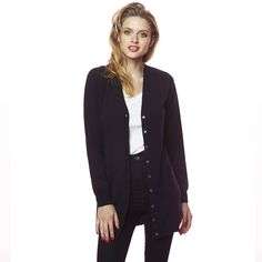 Charlotte Long Cardi Navy Winter Collection, Cashmere, Charlotte, Blazer, Navy, Sweaters, Jackets, Shopping, Fashion