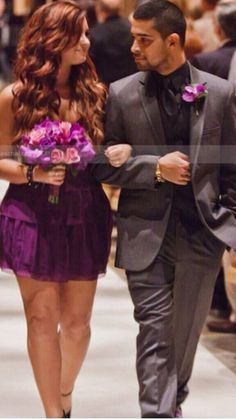 Demi with Wilmer at Tiffany's wedding in 2011<3