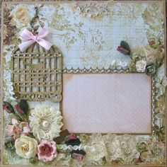This layout is made from rich rose hues. So elegant beautiful! The pictures does it no justice!!! This is a 12x12 layout that hold a 4x6