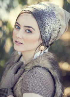 pre-sewn head covering