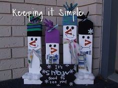 The holiday season is coming soon and snowmen are my favorite to decorate with.  I especially love that you can use them during Christmas but also through the w…