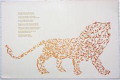 Persian Calligraphy -  Iranian-born artist Jila Peacock - LION