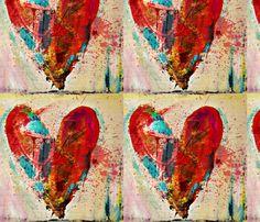 Open Season on My Heart fabric by bluechair on Spoonflower - custom fabric