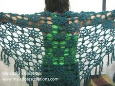 Green lace shawl