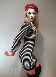 1984 girl mime halloween costume - Mime For Halloween