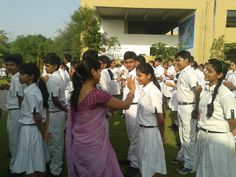 Tilak Ceremony of Class XI Students during morning Assembly