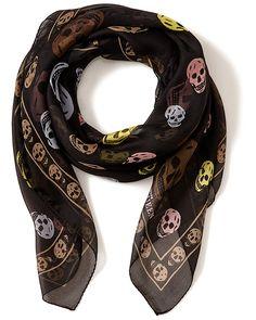 Alexander McQueen Silk Chiffon Multicolored Skull Scarf is on Rue. Shop it now.