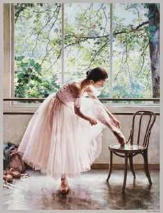 Art portrait oil painting of Ballet dancer Ballerina (no framed) Art Ballet, Ballet Dancers, Ballet Painting, Ballerinas, Shall We Dance, Just Dance, Mode Glamour, Dance Like No One Is Watching, Tiny Dancer